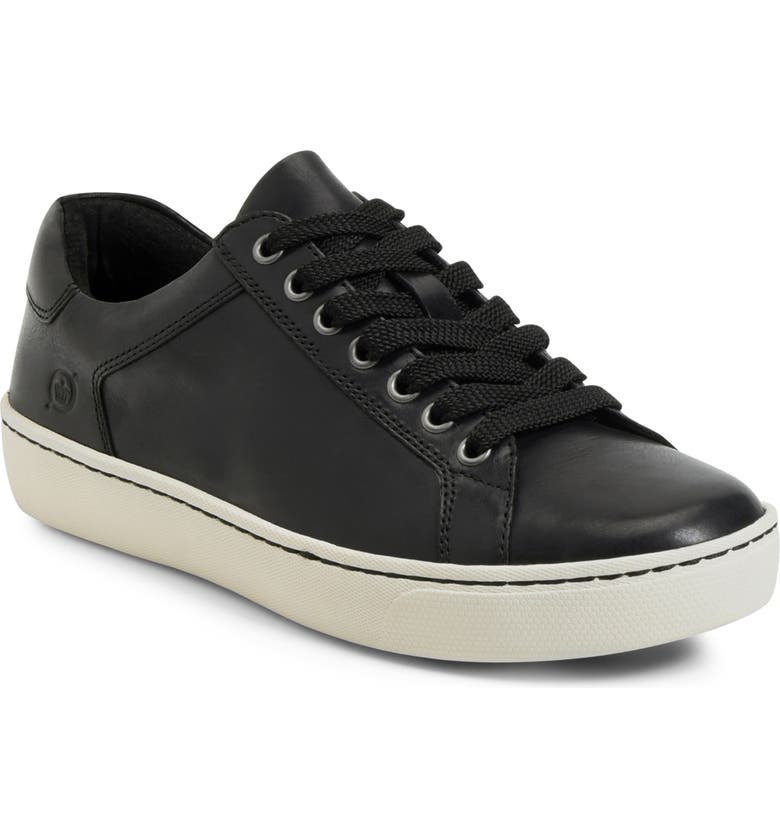 BØRN Sur Sneaker, Main, color, BLACK LEATHER
