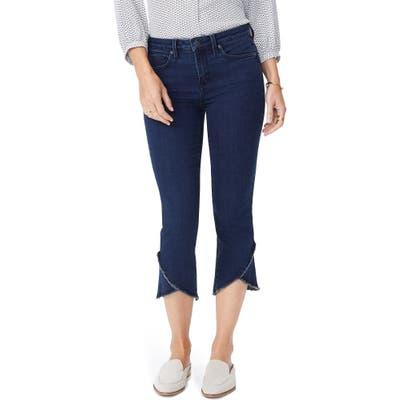 Nydj Crisscross Fray Hem Capri Jeans, Blue