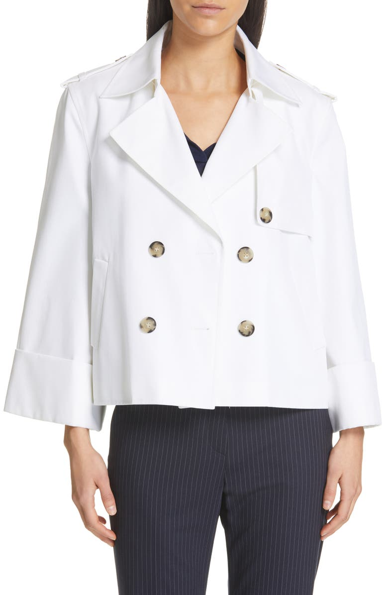 JUDITH & CHARLES Fauvist Trench Style Waist Jacket, Main, color, 900