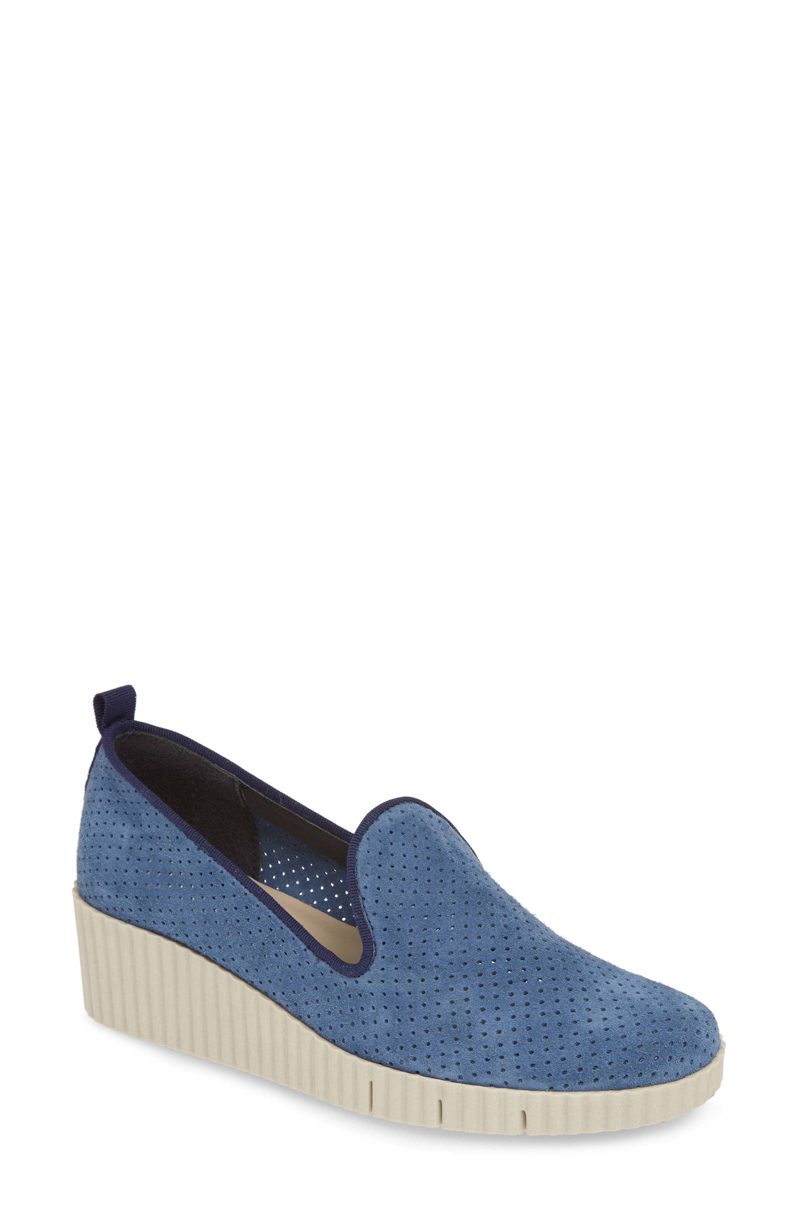 The Flexx Fast Times Too Perforated Wedge Loafer, Blue