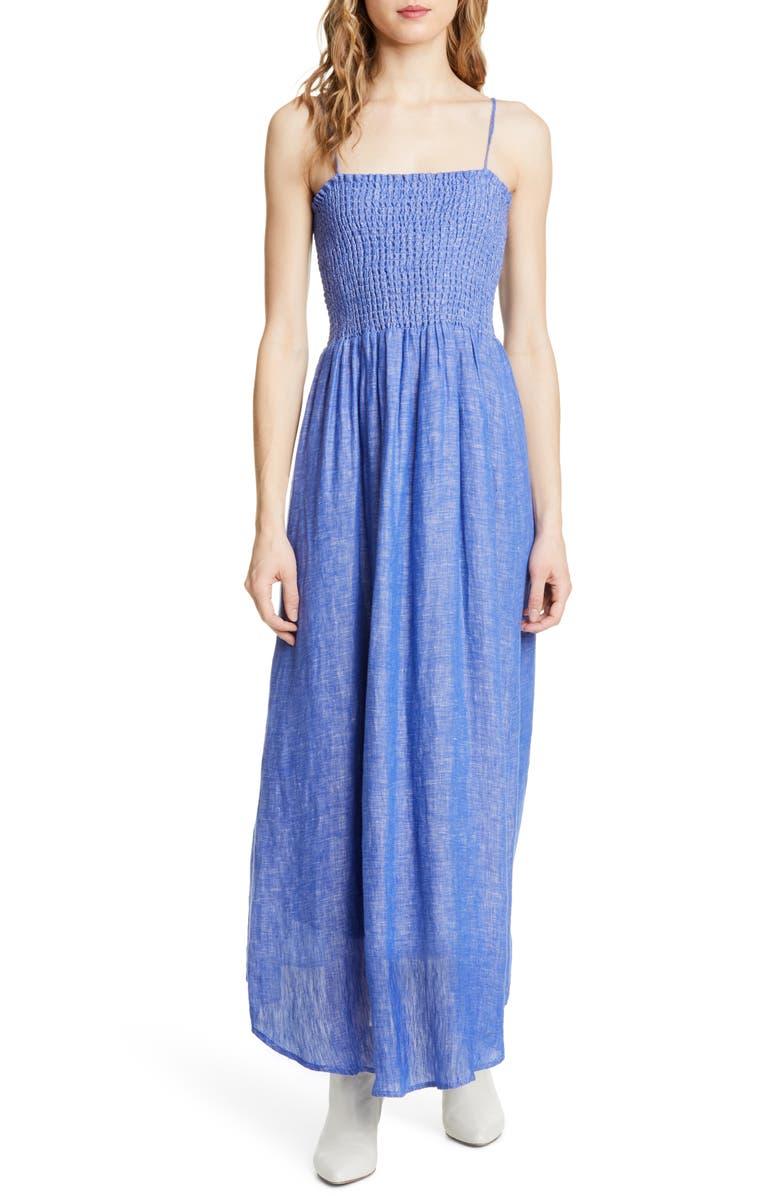 JOIE Tilsa Linen Maxi Sundress, Main, color, 420