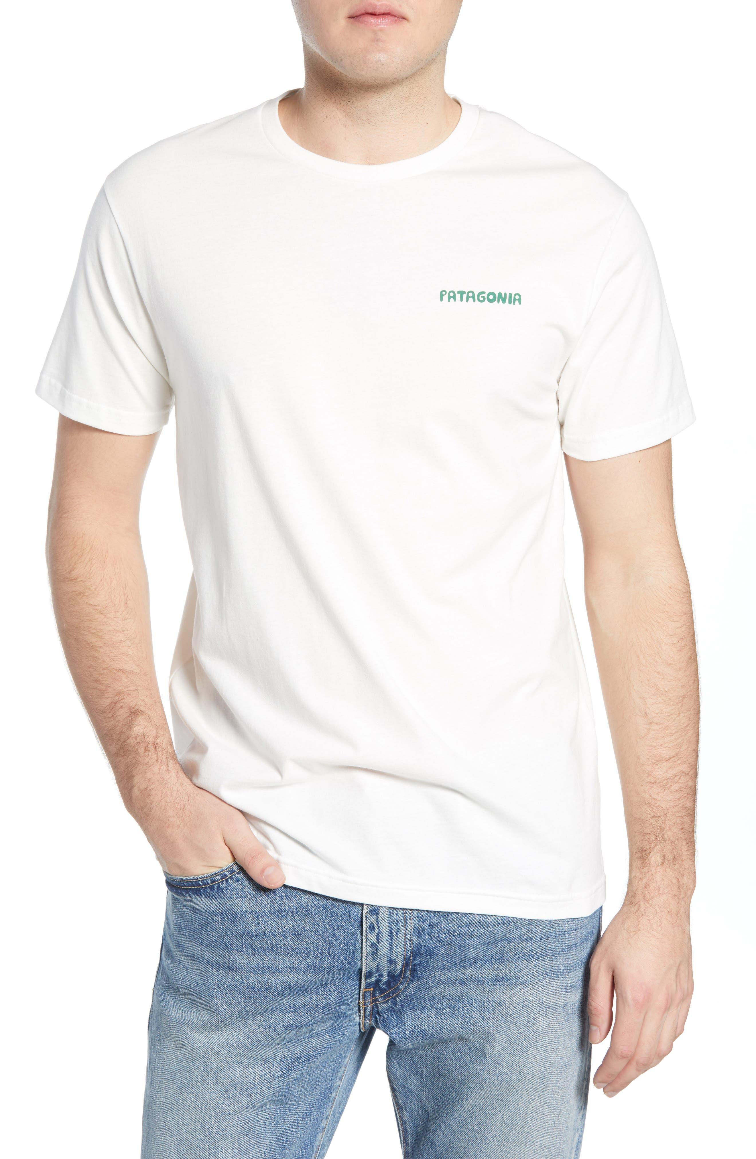 Patagonia Stand Up Graphic Organic Cotton T-Shirt, White