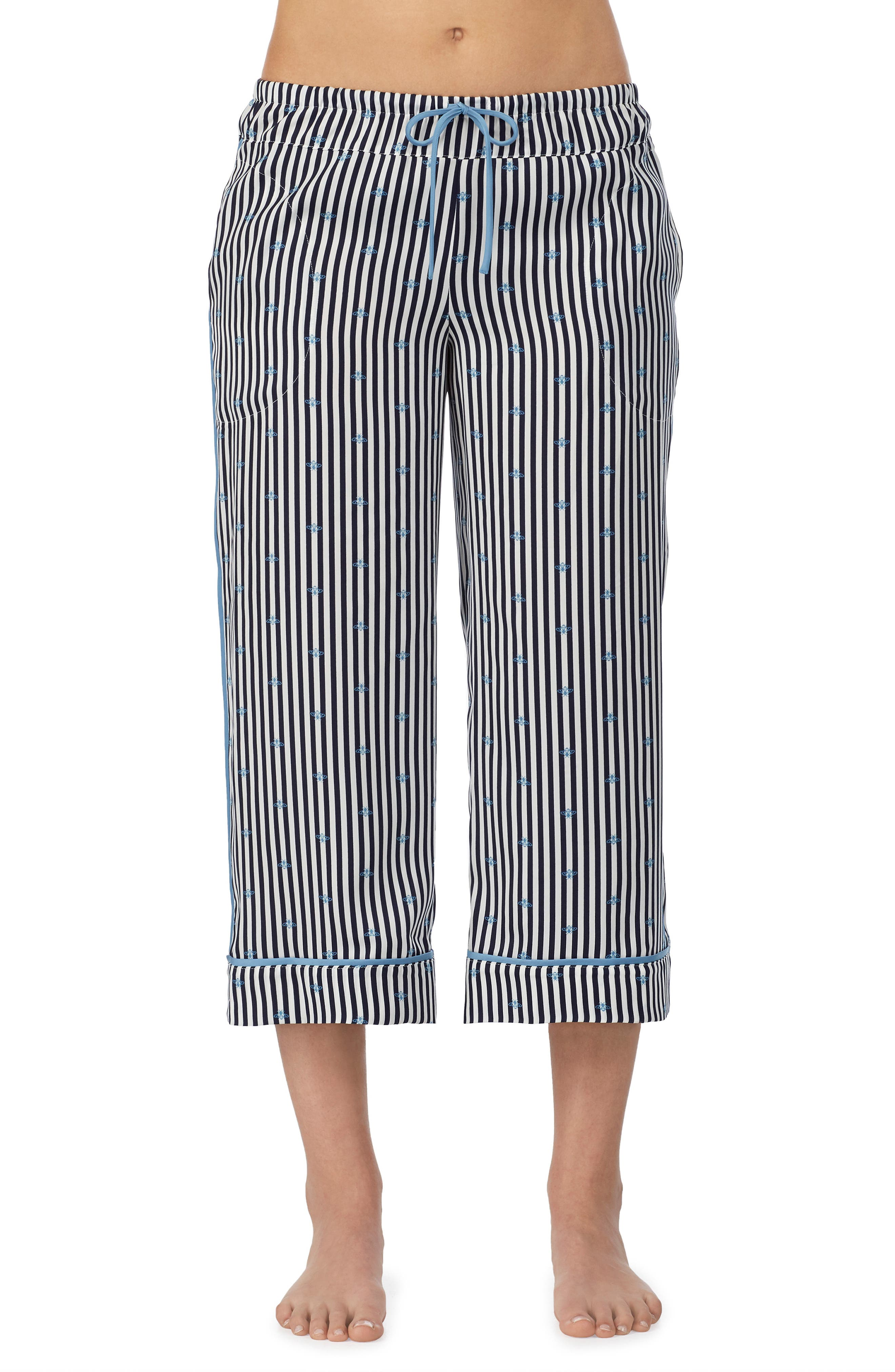 Room Service Cropped Pajamas Pants, Blue (Nordstrom Exclusive)