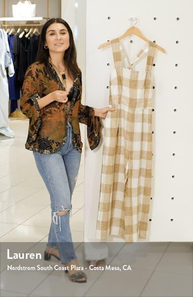 Bailey Cross Back Linen Jumpsuit, sales video thumbnail