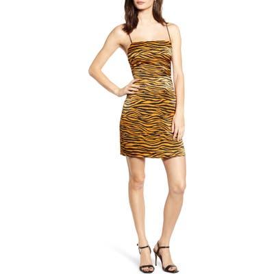 J.o.a. Animal Print Minidress, Brown