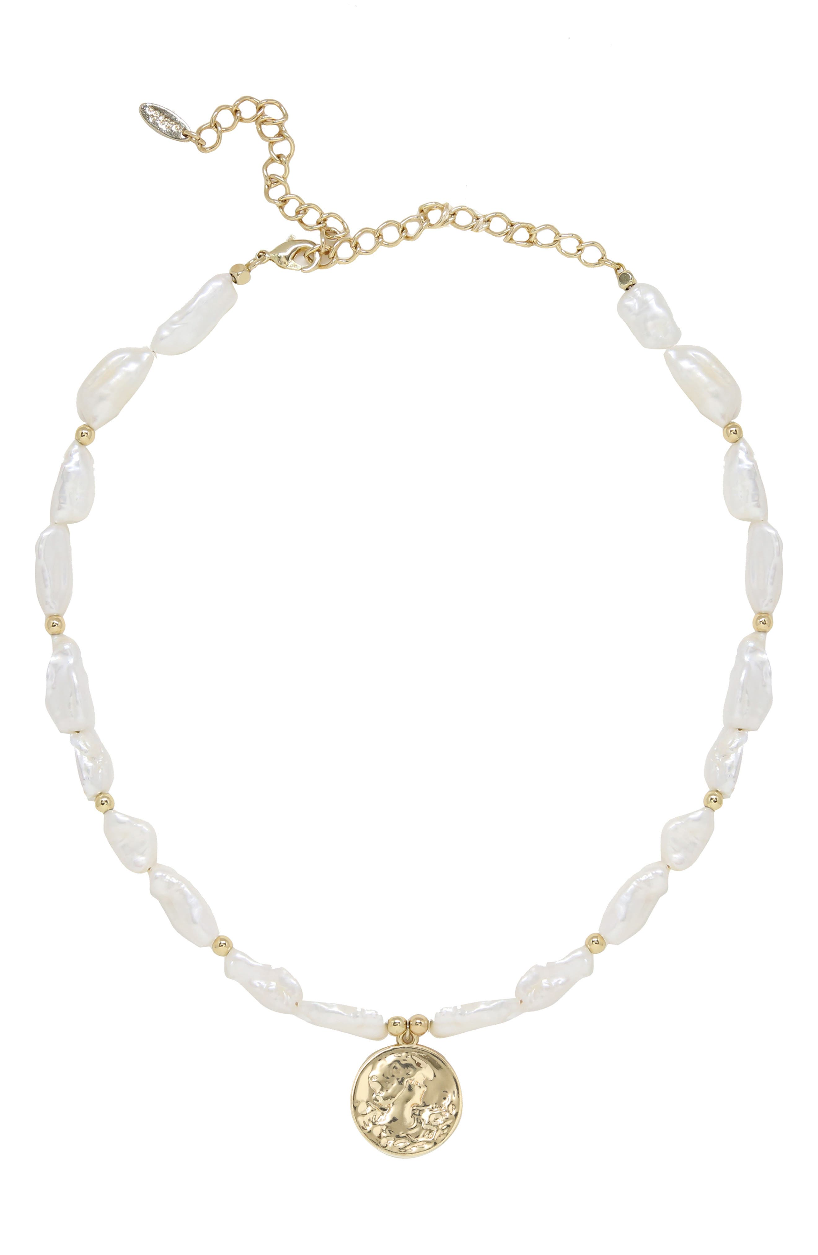 Cultured Pearl Pendant Necklace