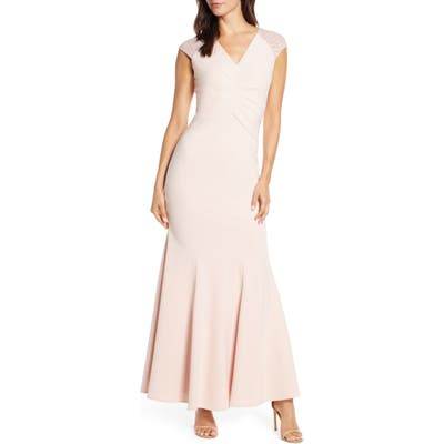 Vince Camuto Lace Back Trumpet Gown, Pink