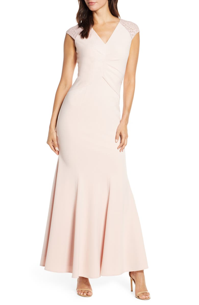 Lace Back Trumpet Gown by Vince Camuto