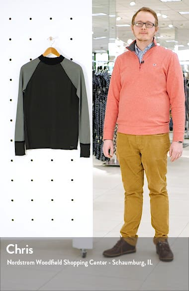 Rebel Colorblock Mock Neck Wool Sweater, sales video thumbnail
