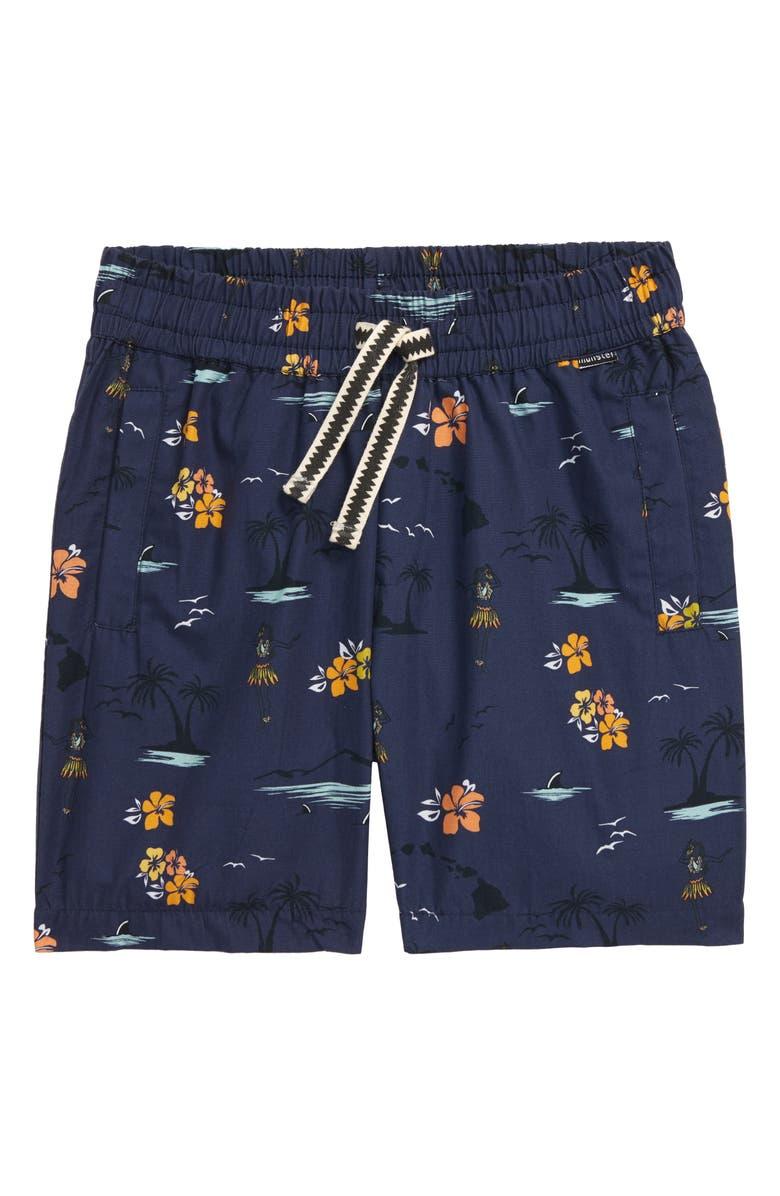 MUNSTERKIDS Island Poplin Shorts, Main, color, NAVY