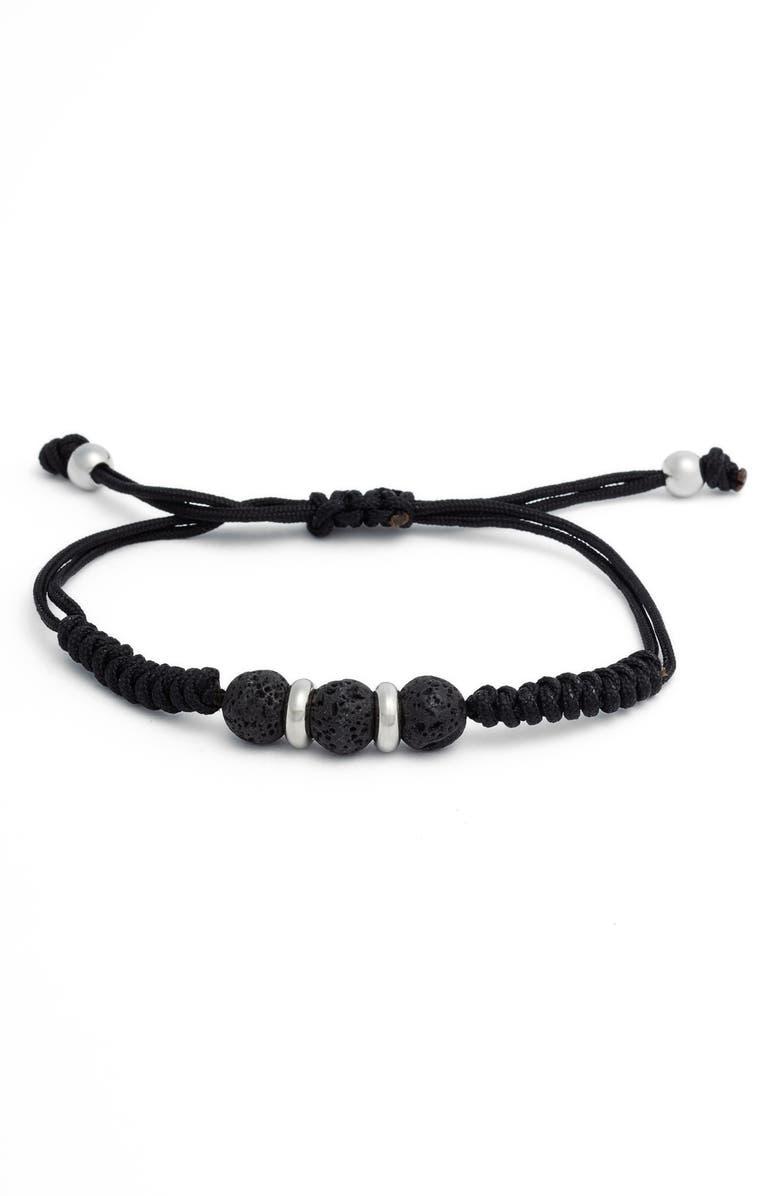 DEGS & SAL Stone Bracelet, Main, color, BLACK