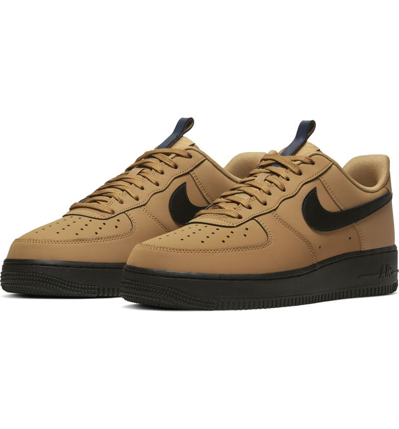 NIKE Air Force 1 '07 WR Sneaker, Main, color, WHEAT/ MIDNIGHT NAVY/ BLACK