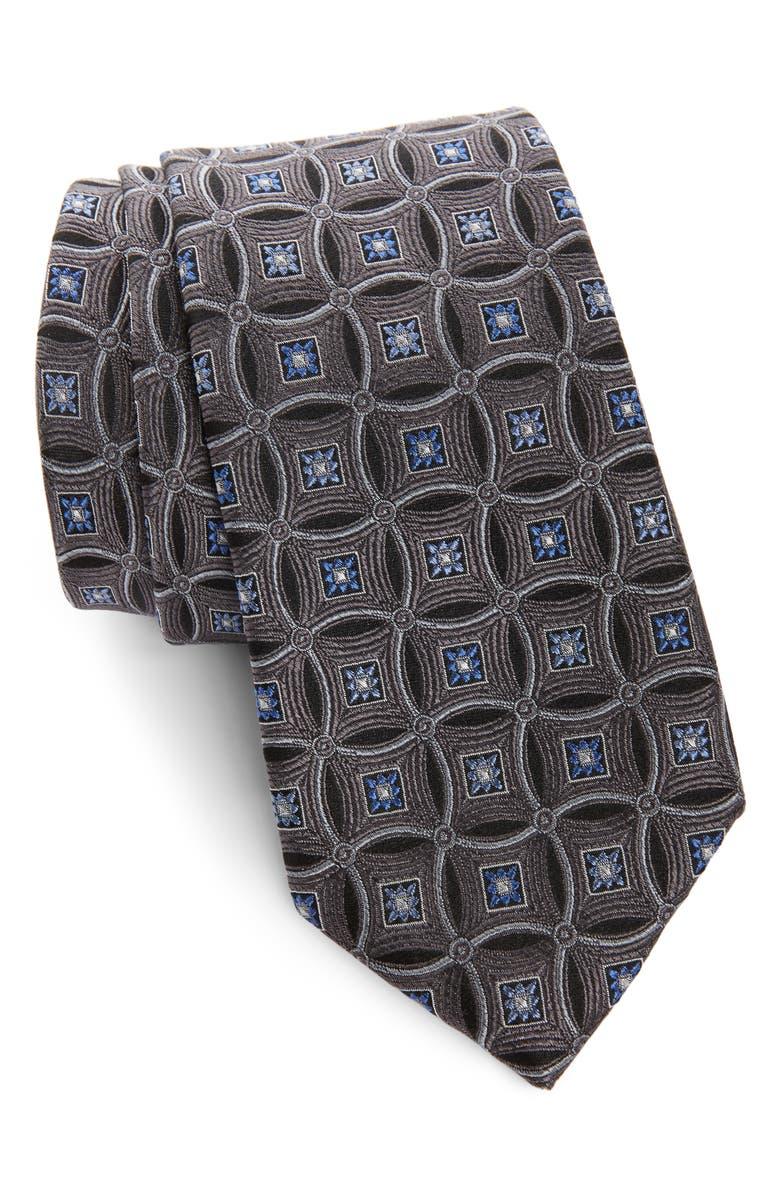 NORDSTROM MEN'S SHOP Lauren Medallion Silk Tie, Main, color, 004