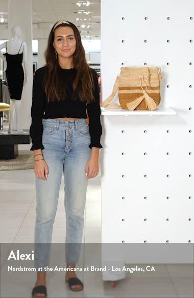 Tara Raffia Shoulder Bag, sales video thumbnail