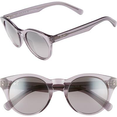 Maui Jim Dragonfly 4m Polarized Cat Eye Sunglasses - Translucent Grey/ Neutral Grey