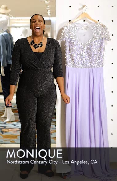 Embellished Bodice A-Line Gown, sales video thumbnail