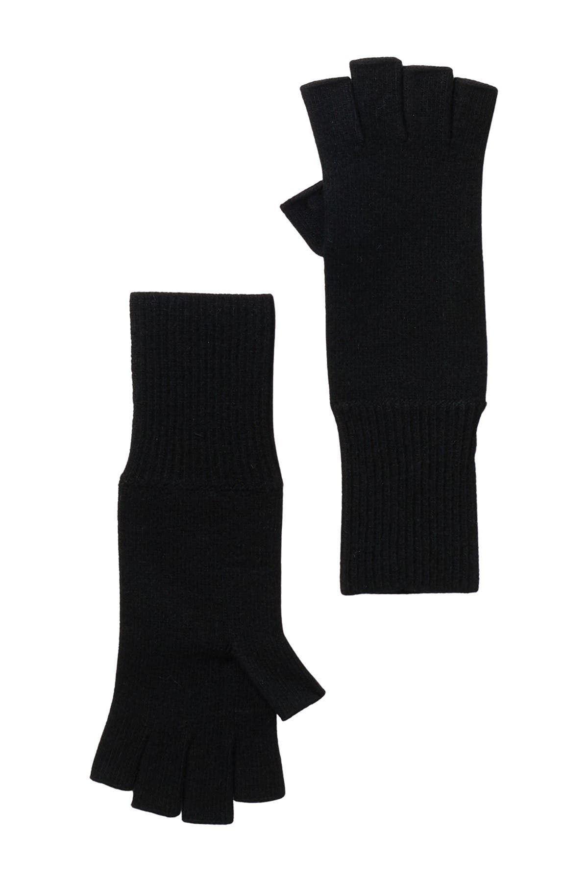 "Image of Portolano 12"" Cashmere Fingerless Gloves"