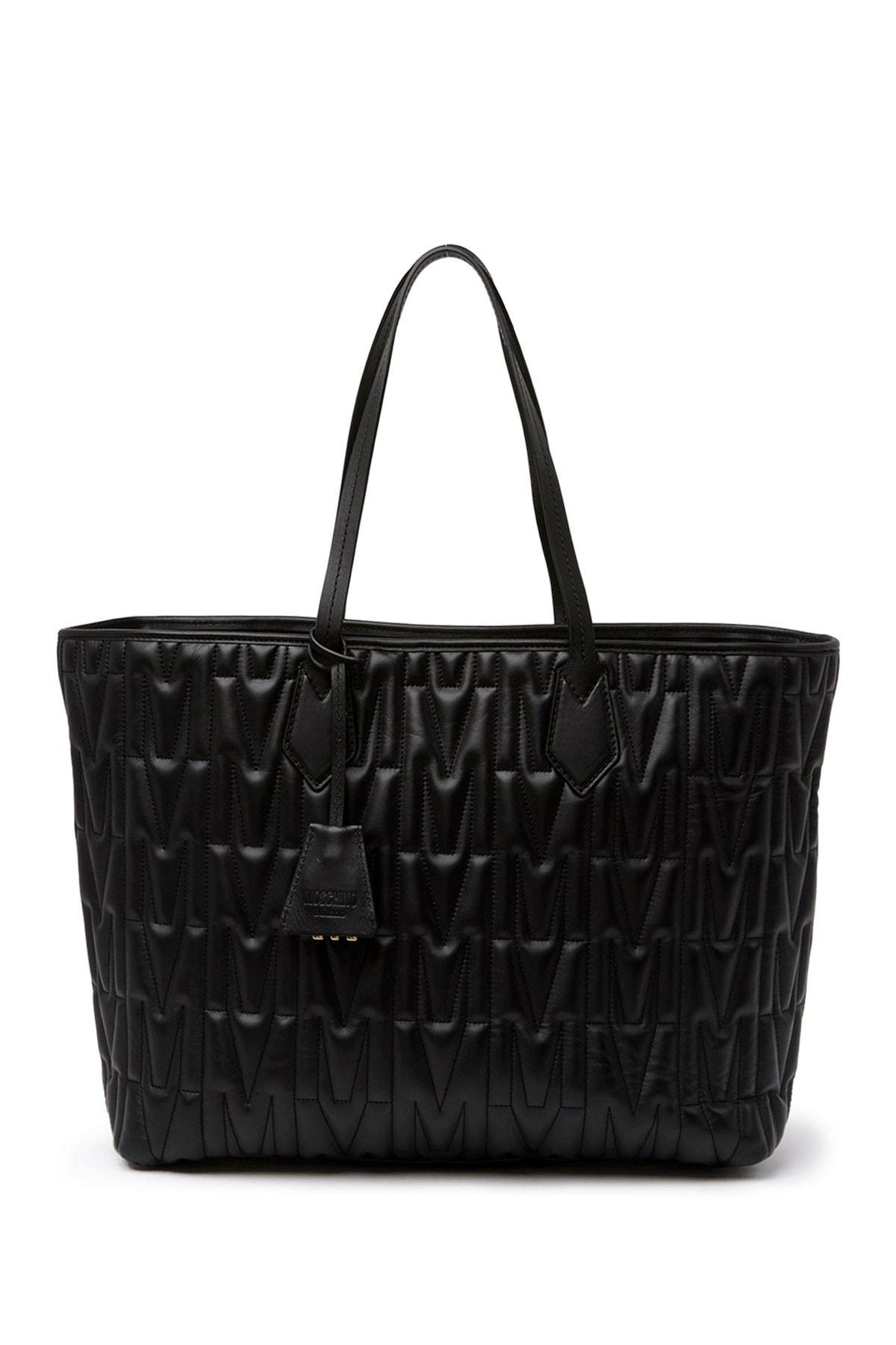 Image of MOSCHINO Quilted Embossed Tote