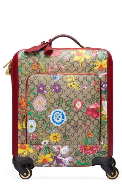 Gucci Bags FLORA CANVAS CARRY-ON - BEIGE