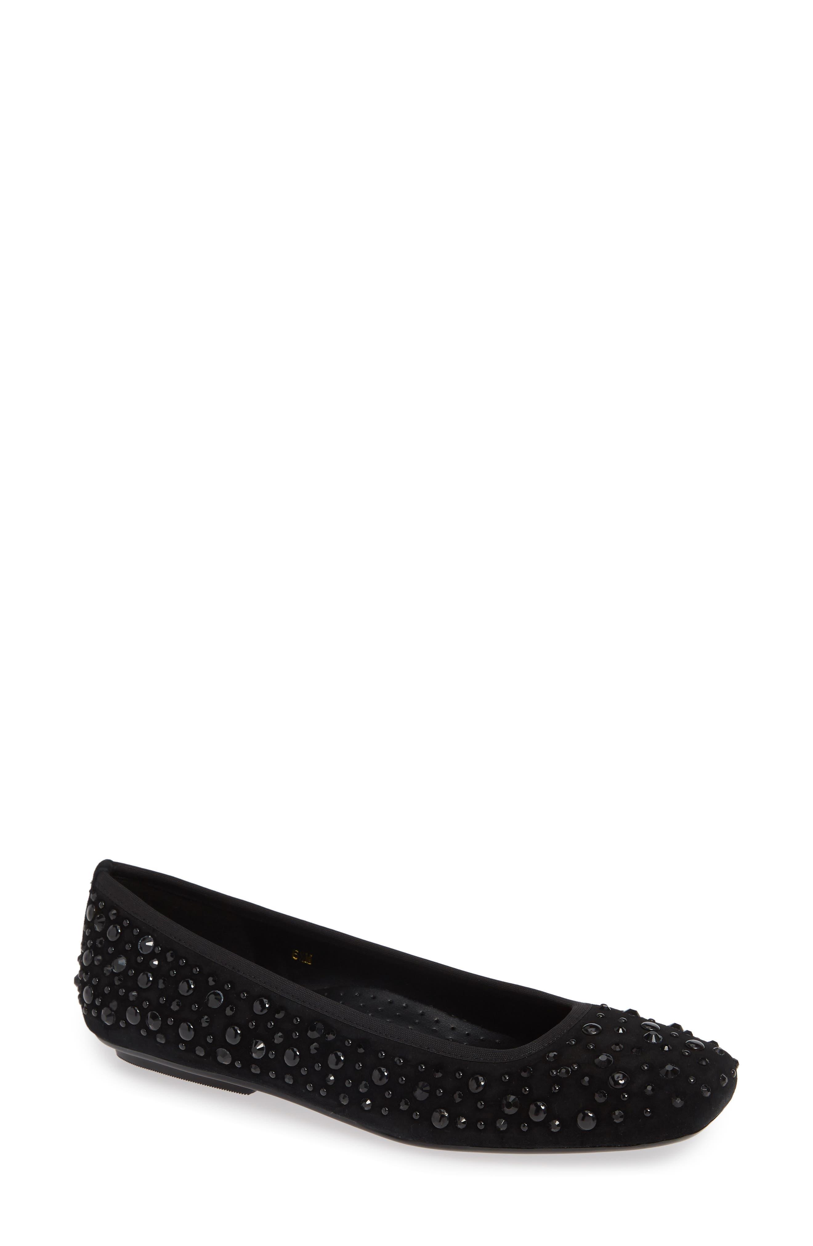 Vaneli Nayeli Studded Skimmer Flat N - Black
