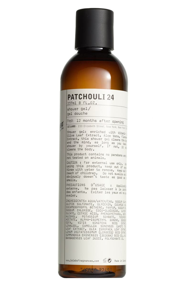 LE LABO 'Patchouli 24' Shower Gel, Main, color, NO COLOR