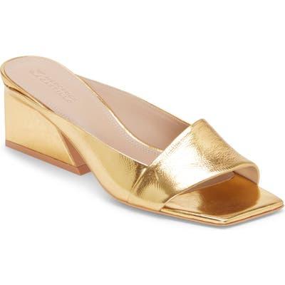 Mercedes Castillo Maisie Slide Sandal- Metallic