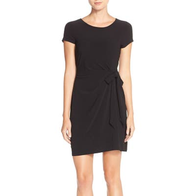 Leota Side Tie Jersey Sheath Dress
