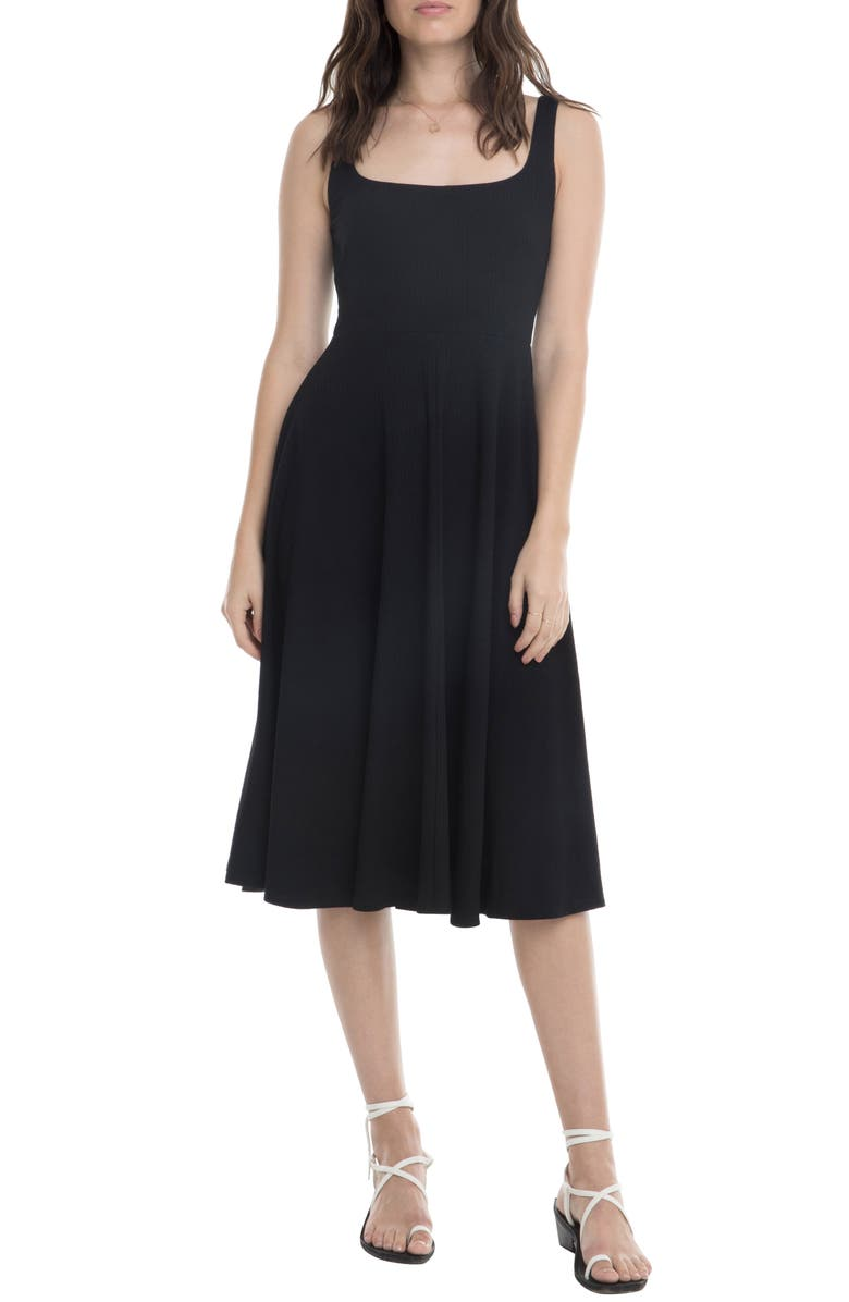 ASTR THE LABEL Faith A-Line Dress, Main, color, BLACK