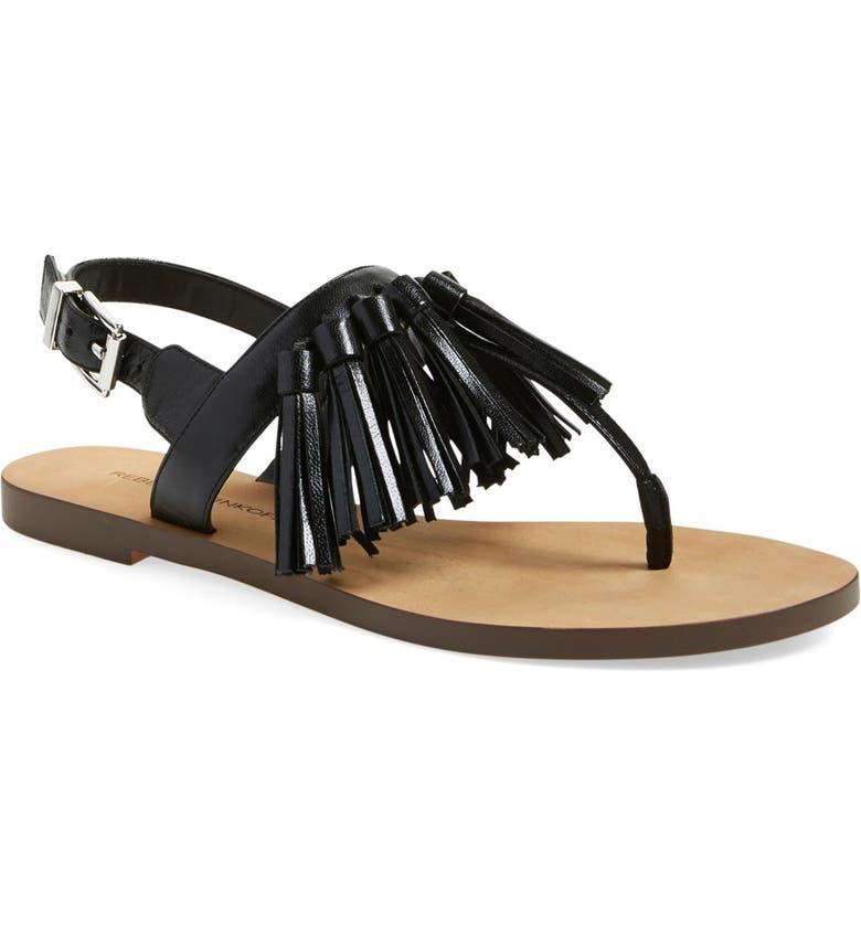 REBECCA MINKOFF 'Erin' Tassel Sandal, Main, color, 001