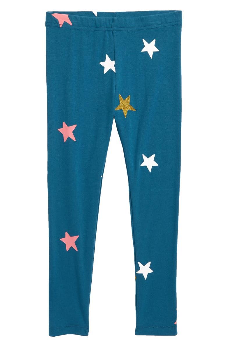 TUCKER + TATE 'Core' Print Leggings, Main, color, TEAL CORAL SPARKLE STARS