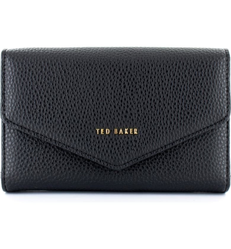 TED BAKER LONDON Selie iPhone X/Xs, Xs Max & XR Faux Leather Crossbody Case, Main, color, BLACK