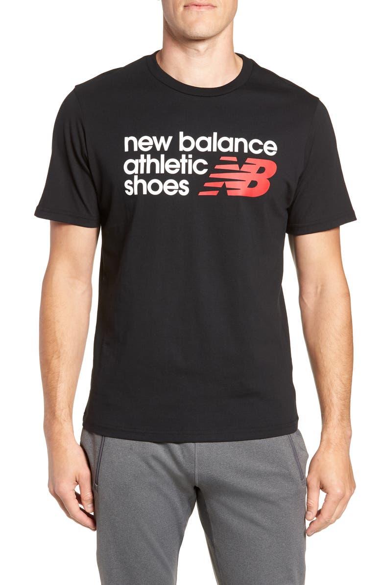 NEW BALANCE NB Shoe Box Graphic T-Shirt, Main, color, BLACK/ BLACK