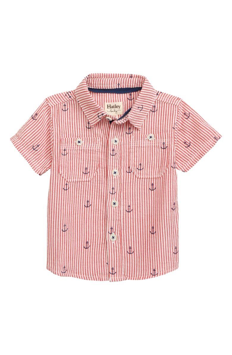 HATLEY Anchors Button-Down Shirt, Main, color, 100