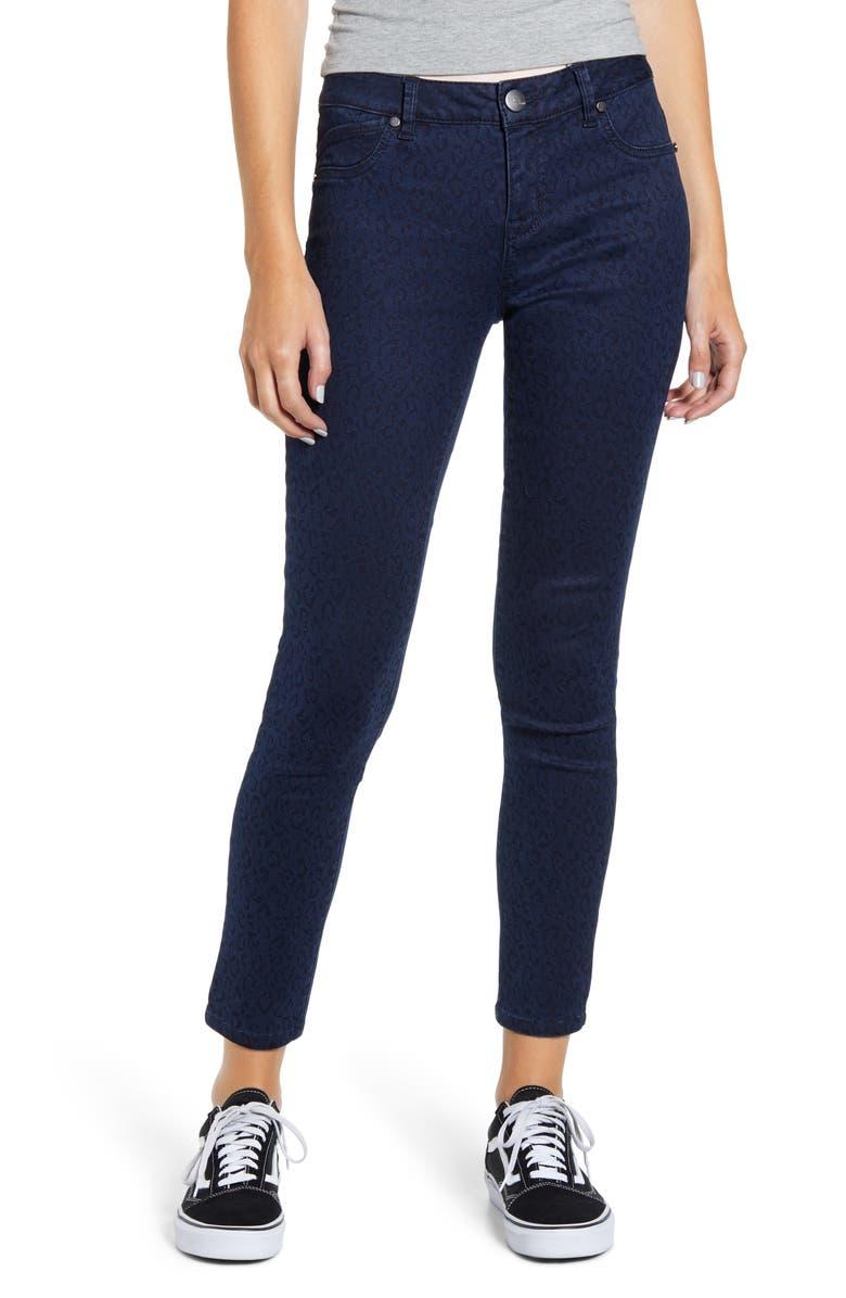 1822 DENIM Tonal Leopard Print Skinny Jeans, Main, color, MARCIA