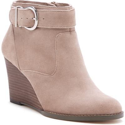 Sole Society Peytal Wedge Bootie- White