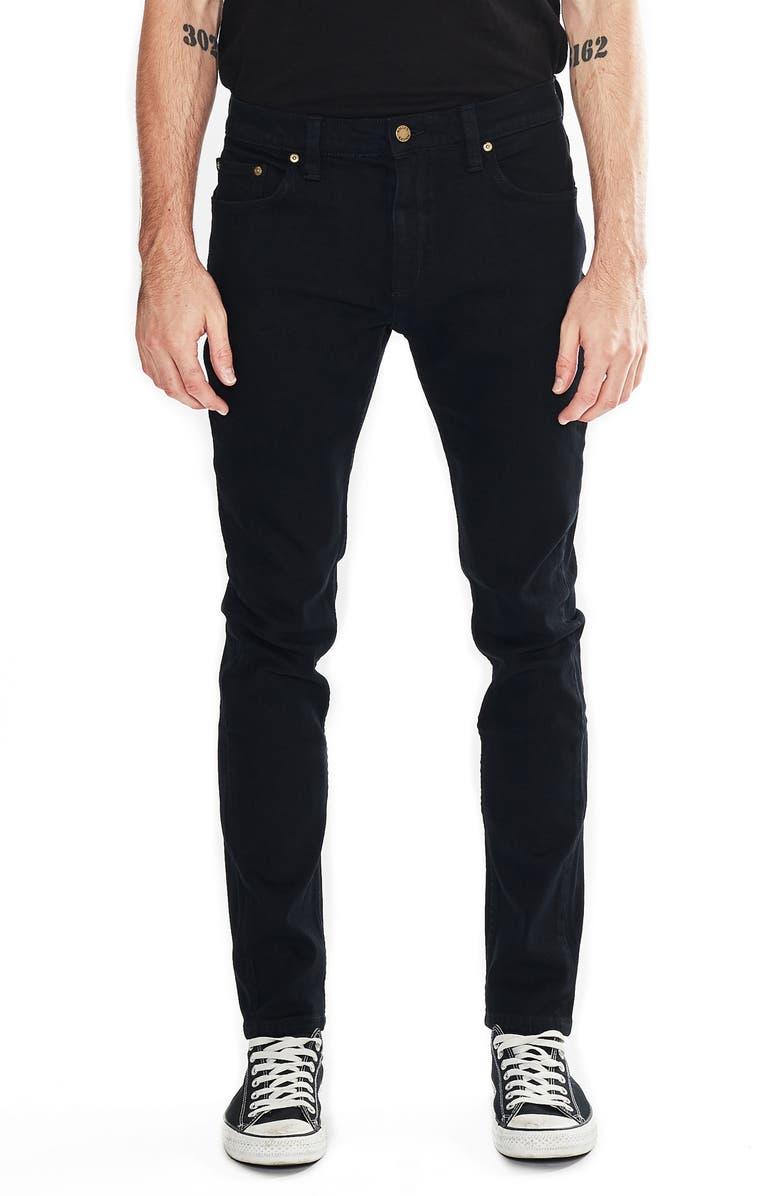 ROLLA'S Tim Slims Skinny Fit Jeans, Main, color, BON BLACK