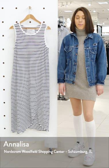 Stripe Relaxed Asymmetrical Hem Tank Dress, sales video thumbnail