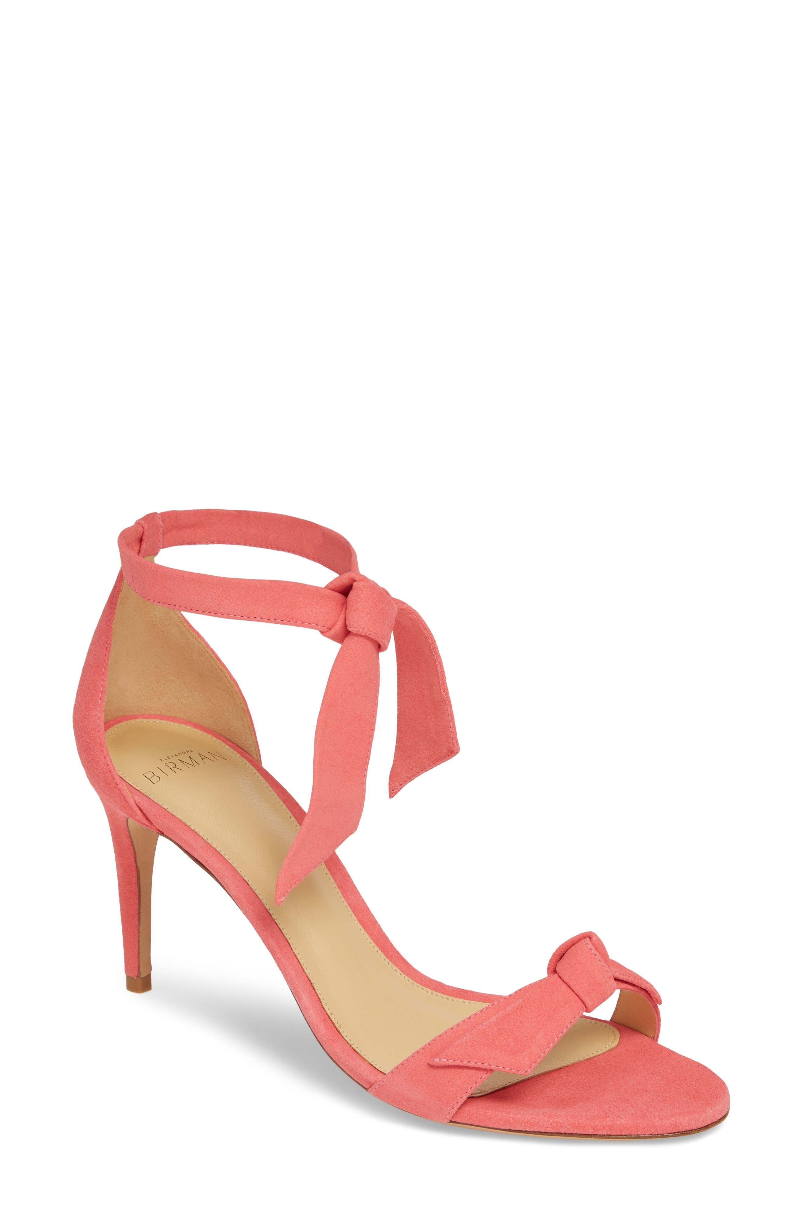 Alexandre Birman Clarita Ankle Tie Sandal- Pink