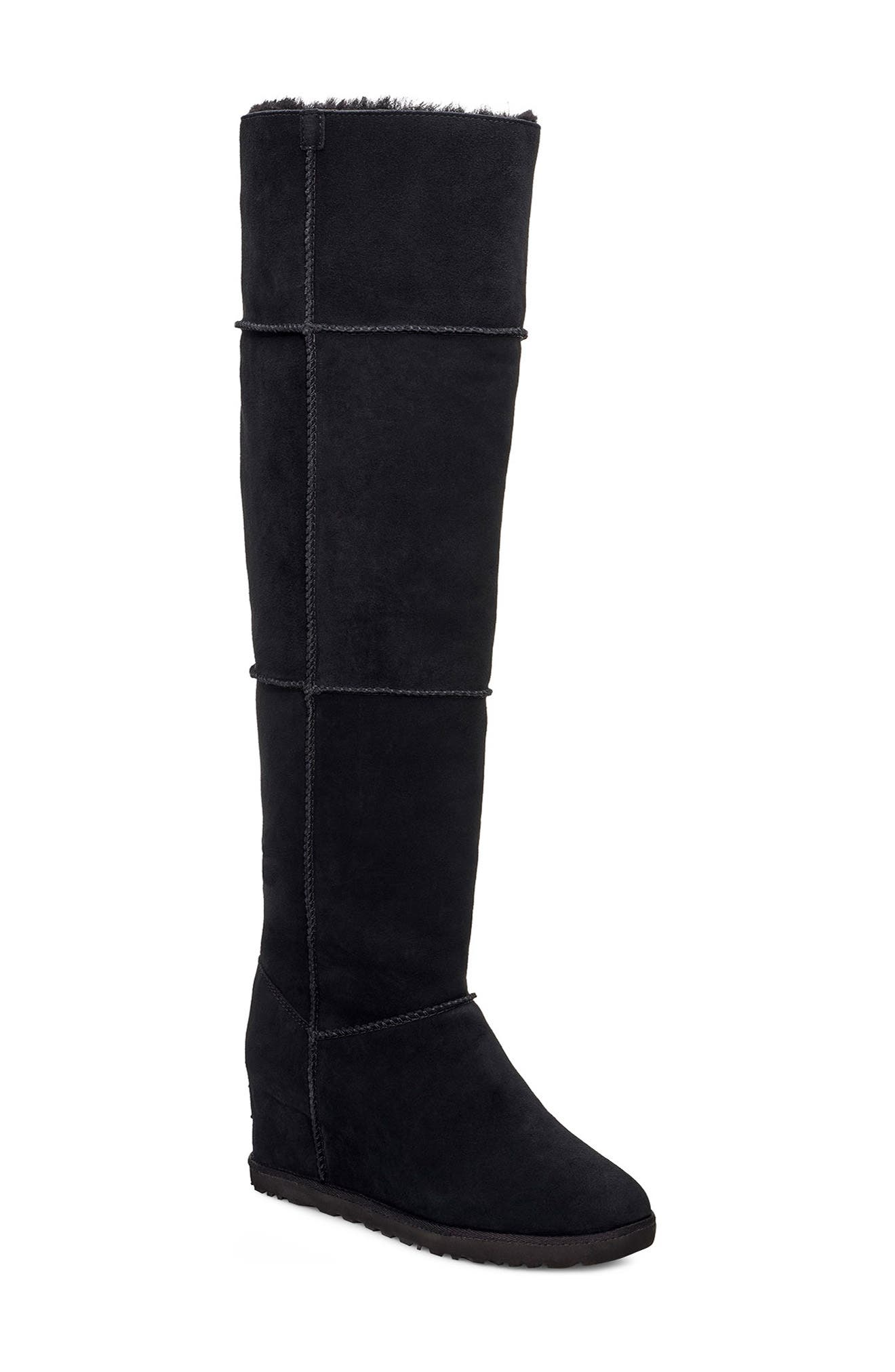 UGG® Classic Femme Over the Knee Wedge Boot (Women) (Wide Calf)