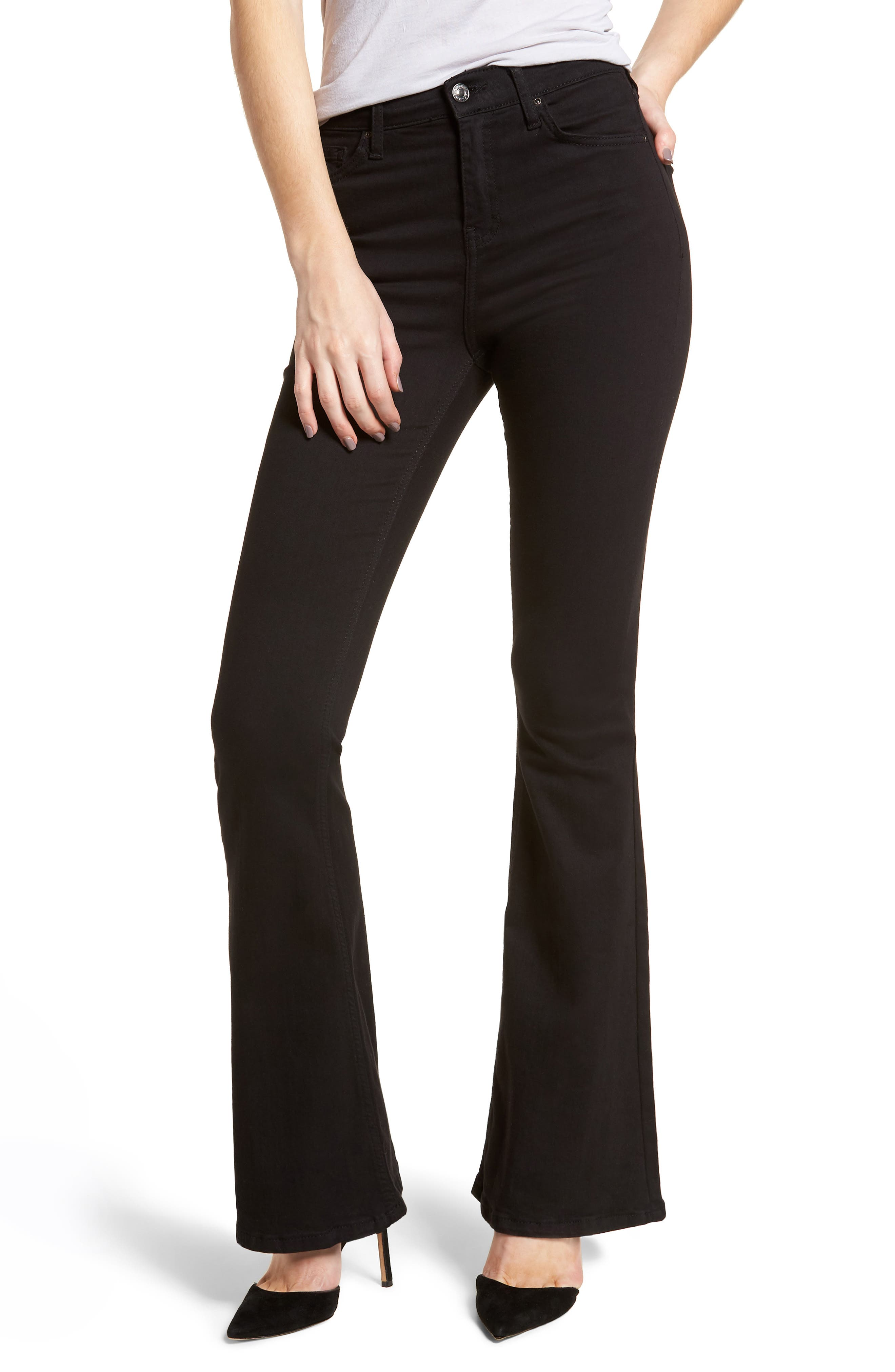 Petite Women's Topshop High Waist Flared Jeans