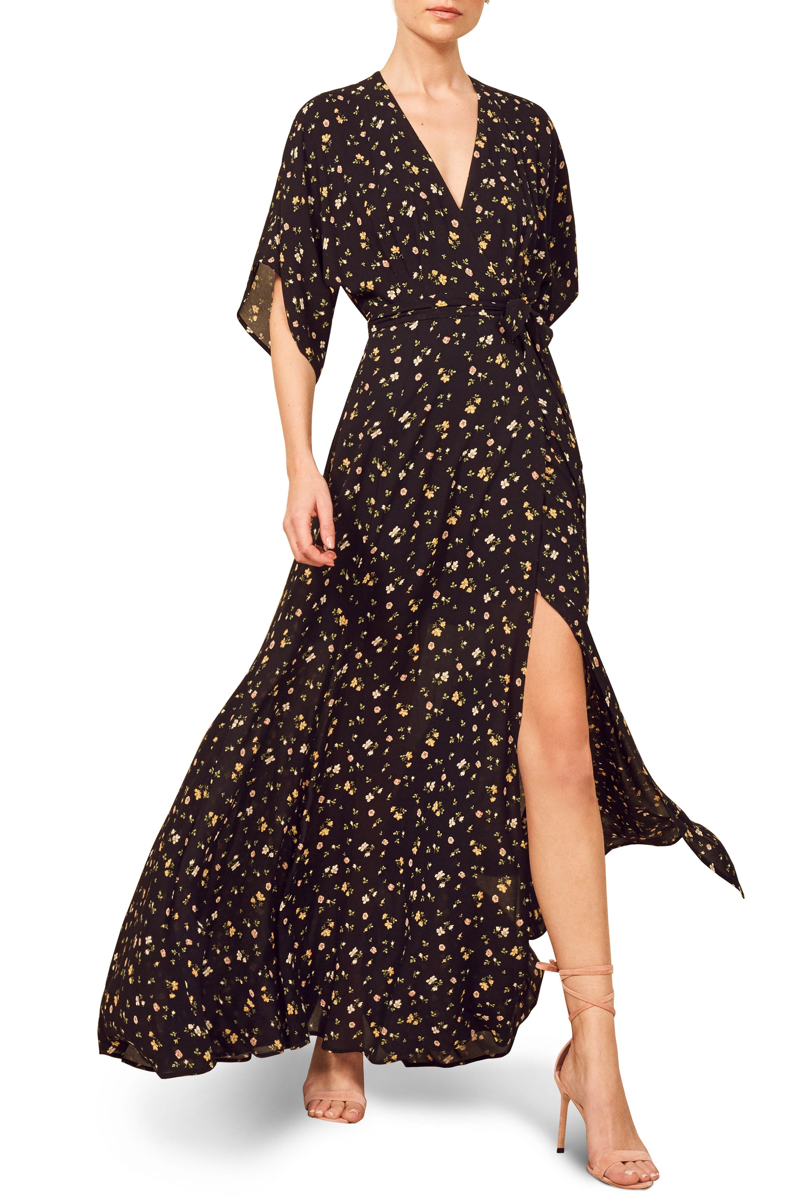 Reformation Winslow Maxi Dress, Black