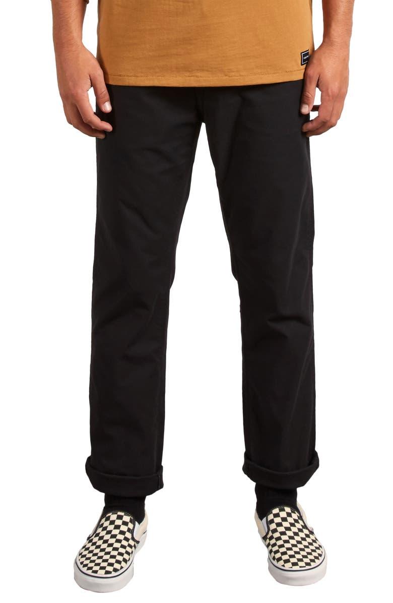 VOLCOM Gritter Straight Leg Chino Pants, Main, color, 001