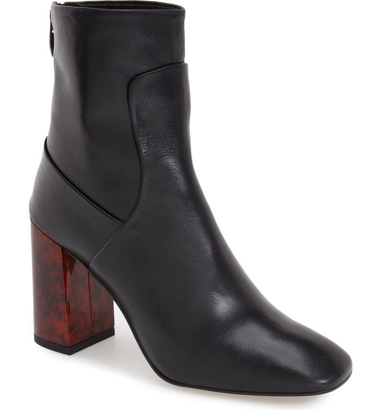 TOPSHOP 'Master Tortoise Shell' Bootie(Women), Main, color, 001