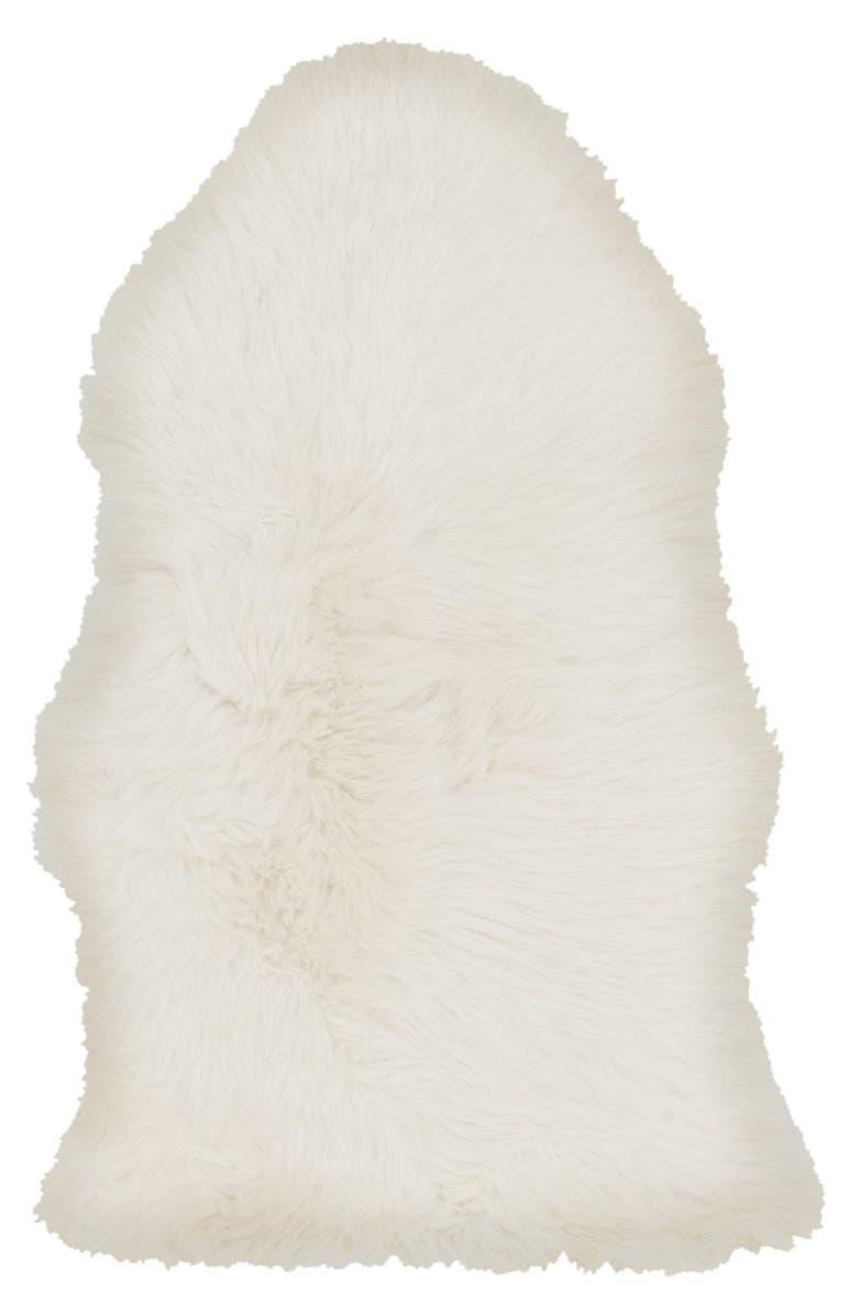 SURYA HOME Genuine Shearling Rug, Main, color, IVORY