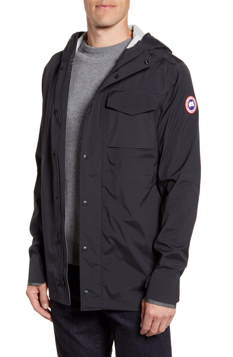CANADA GOOSE Nanaimo Windproof/Waterproof Jacket, Main, color, BLACK
