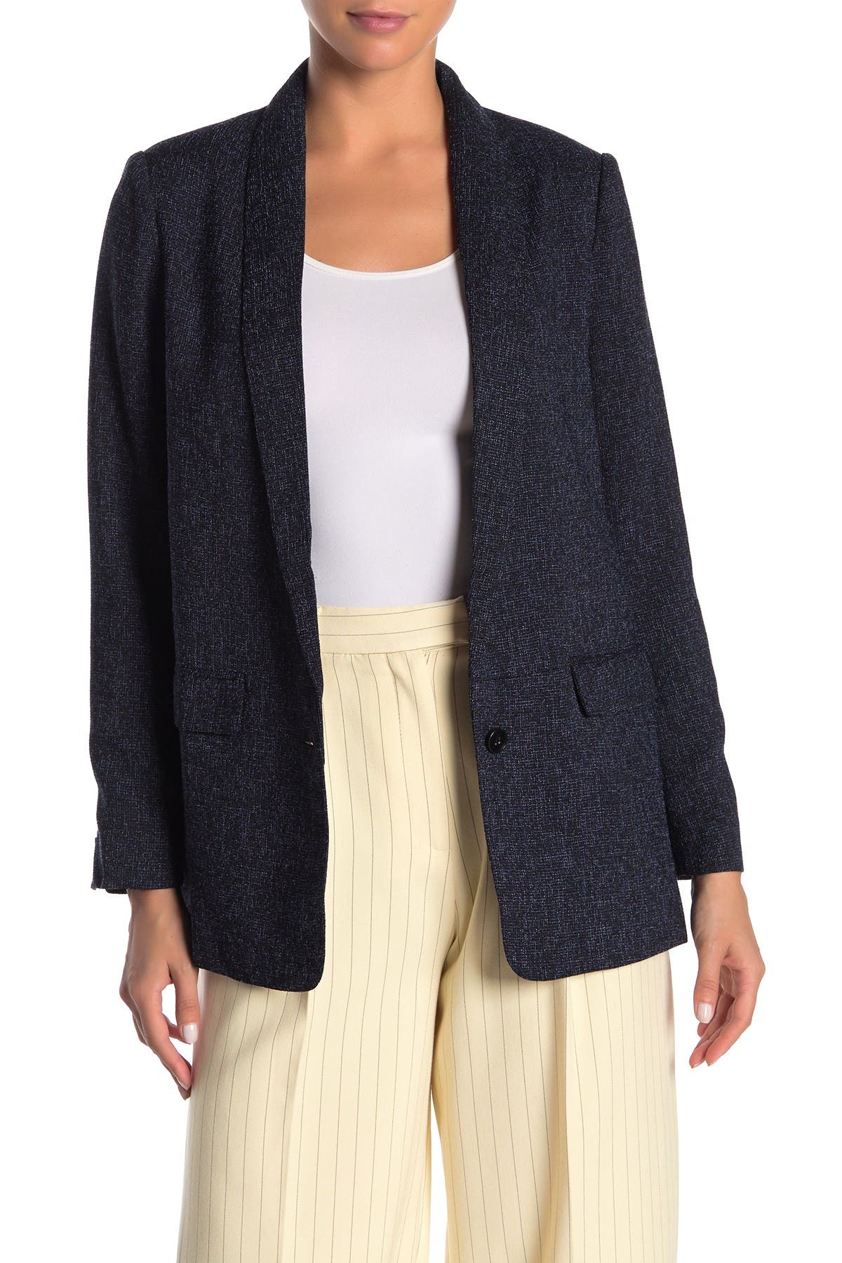 Image of FRNCH Front Single Button Blazer