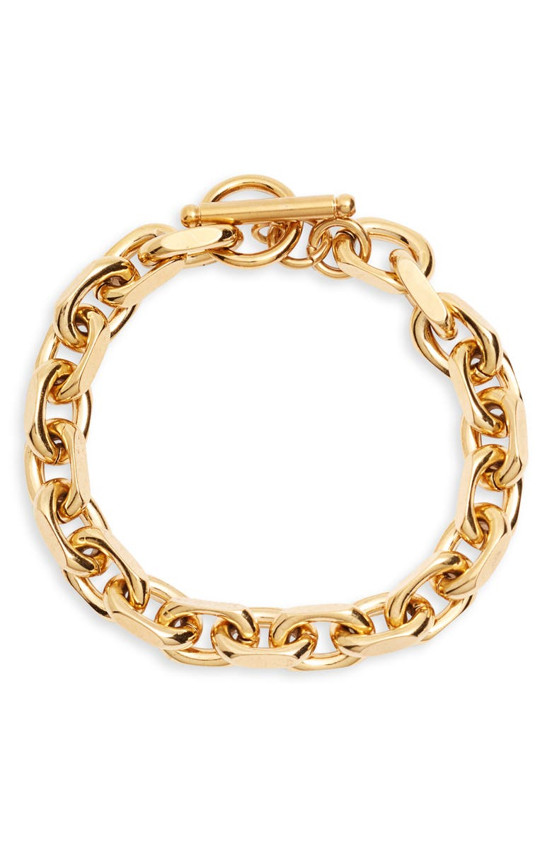 ELLIE VAIL Maddox Toggle Bracelet, Main, color, GOLD