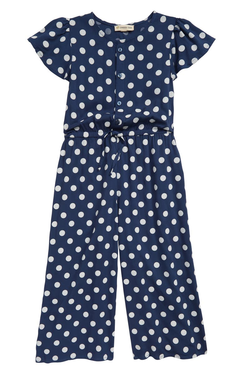 TUCKER + TATE Wide Leg Romper, Main, color, NAVY DENIM DOT