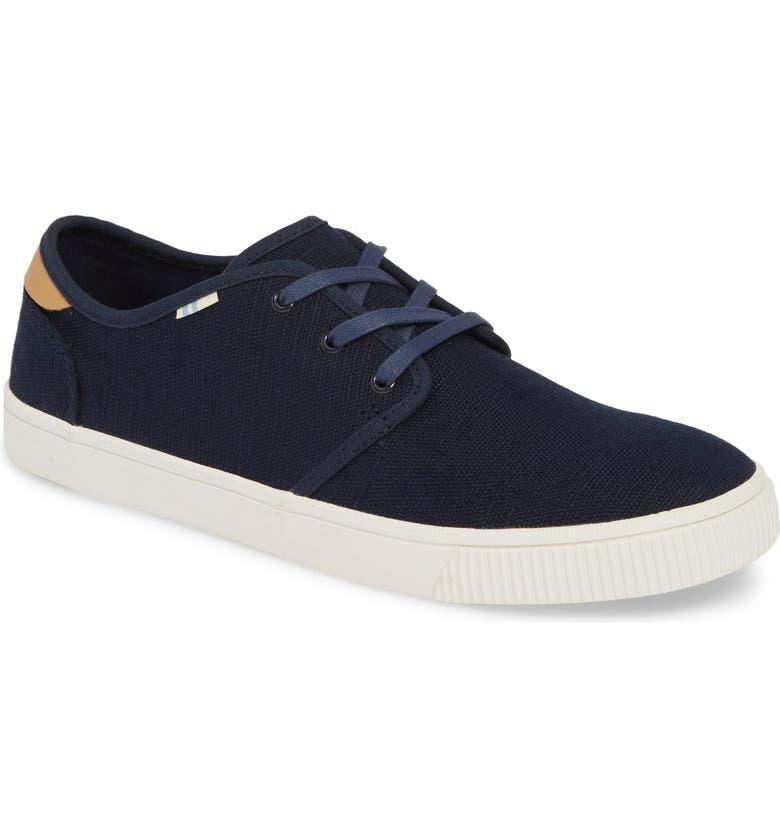 TOMS Carlo Low Top Sneaker, Main, color, NAVY CANVAS
