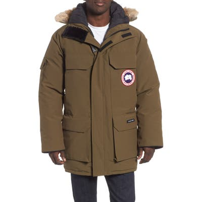 Canada Goose Pbi Expedition Regular Fit Down Parka With Genuine Coyote Fur Trim, Green